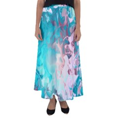 Background Art Abstract Watercolor Flared Maxi Skirt