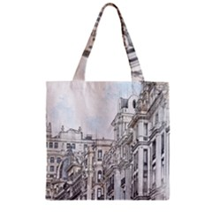 Architecture Building Design Zipper Grocery Tote Bag