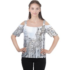 Architecture Building Design Cutout Shoulder Tee