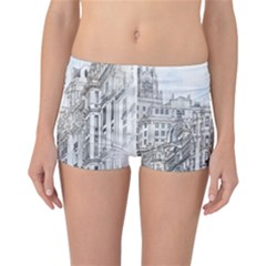Architecture Building Design Reversible Boyleg Bikini Bottoms