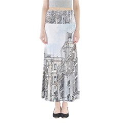 Architecture Building Design Full Length Maxi Skirt