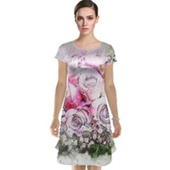 Flowers Bouquet Art Nature Cap Sleeve Nightdress