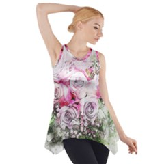 Flowers Bouquet Art Nature Side Drop Tank Tunic