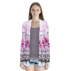 Flowers Bouquet Art Nature Drape Collar Cardigan