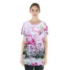 Flowers Bouquet Art Nature Skirt Hem Sports Top