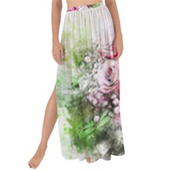 Flowers Bouquet Art Nature Maxi Chiffon Tie Up Sarong