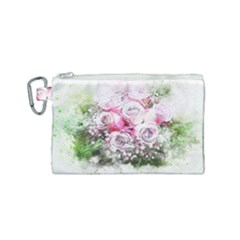 Flowers Bouquet Art Nature Canvas Cosmetic Bag (small)