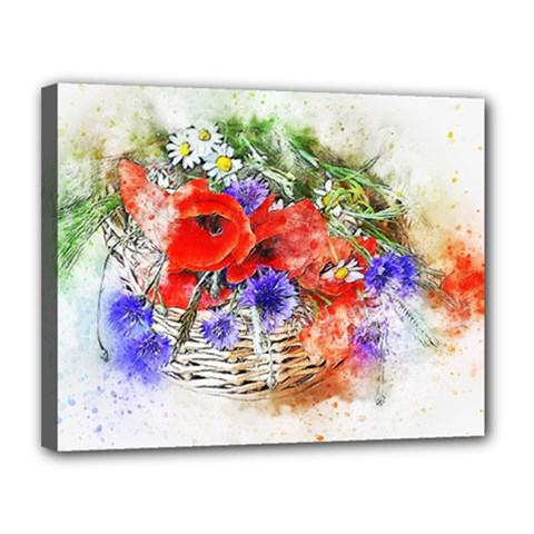 Flowers Bouquet Art Nature Canvas 14  X 11