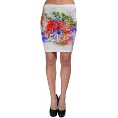 Flowers Bouquet Art Nature Bodycon Skirt