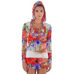 Flowers Bouquet Art Nature Long Sleeve Hooded T Shirt