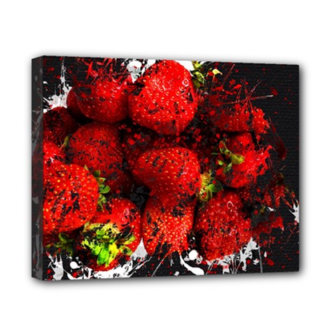 Strawberry Fruit Food Art Abstract Canvas 10  X 8