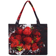 Strawberry Fruit Food Art Abstract Mini Tote Bag