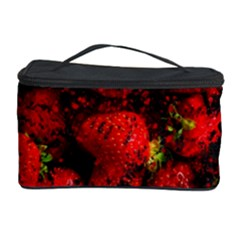 Strawberry Fruit Food Art Abstract Cosmetic Storage Case by Nexatart