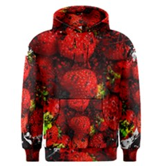 Strawberry Fruit Food Art Abstract Men s Pullover Hoodie