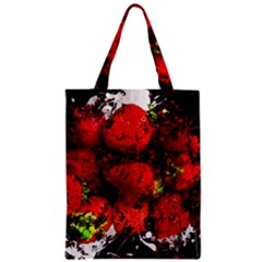Strawberry Fruit Food Art Abstract Zipper Classic Tote Bag