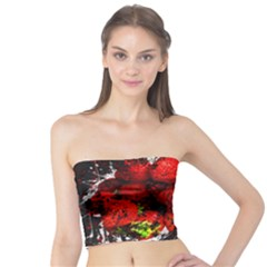 Strawberry Fruit Food Art Abstract Tube Top