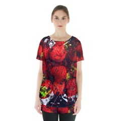 Strawberry Fruit Food Art Abstract Skirt Hem Sports Top
