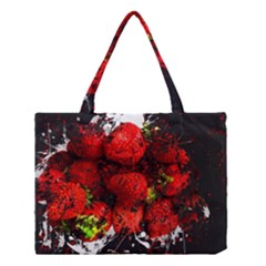 Strawberry Fruit Food Art Abstract Medium Tote Bag by Nexatart