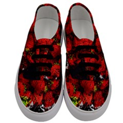 Strawberry Fruit Food Art Abstract Men s Classic Low Top Sneakers
