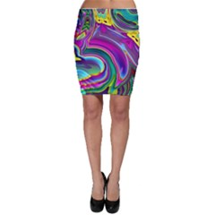 Background Art Abstract Watercolor Bodycon Skirt