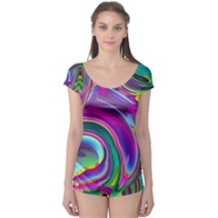 Background Art Abstract Watercolor Boyleg Leotard