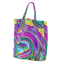 Background Art Abstract Watercolor Giant Grocery Zipper Tote by Nexatart