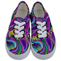 Background Art Abstract Watercolor Kids  Classic Low Top Sneakers