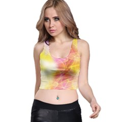 Background Art Abstract Watercolor Racer Back Crop Top