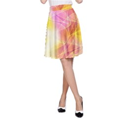 Background Art Abstract Watercolor A Line Skirt