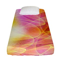 Background Art Abstract Watercolor Fitted Sheet (single Size)