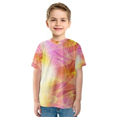 Background Art Abstract Watercolor Kids  Sport Mesh Tee