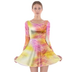 Background Art Abstract Watercolor Long Sleeve Skater Dress