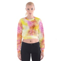 Background Art Abstract Watercolor Cropped Sweatshirt