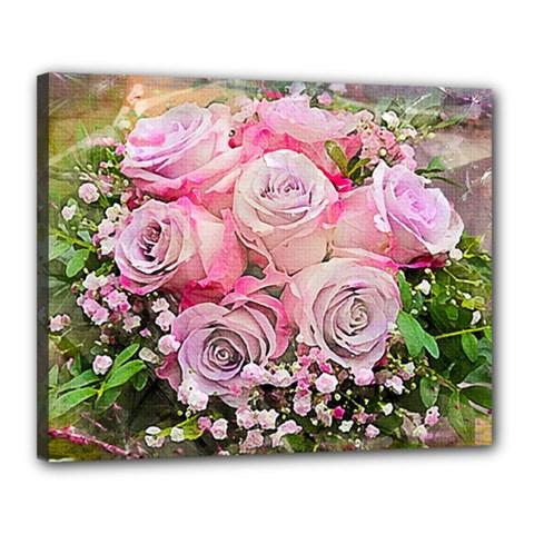 Flowers Bouquet Wedding Art Nature Canvas 20  X 16  by Nexatart