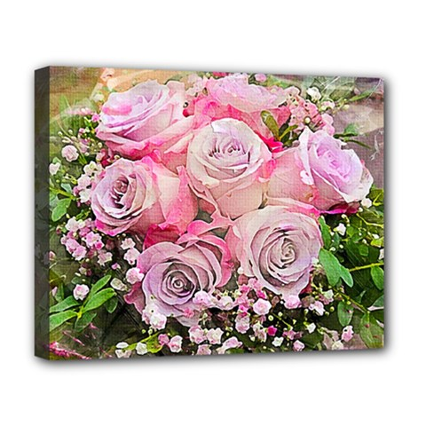 Flowers Bouquet Wedding Art Nature Deluxe Canvas 20  X 16