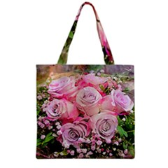 Flowers Bouquet Wedding Art Nature Grocery Tote Bag by Nexatart