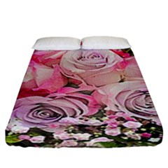Flowers Bouquet Wedding Art Nature Fitted Sheet (king Size)
