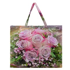 Flowers Bouquet Wedding Art Nature Zipper Large Tote Bag