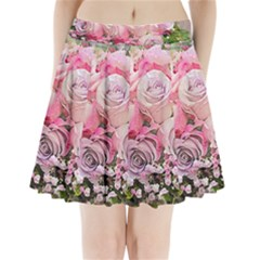 Flowers Bouquet Wedding Art Nature Pleated Mini Skirt