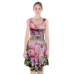 Flowers Bouquet Wedding Art Nature Racerback Midi Dress