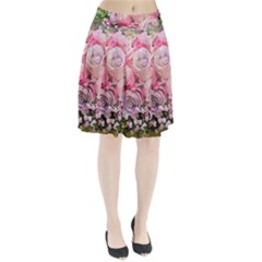 Flowers Bouquet Wedding Art Nature Pleated Skirt