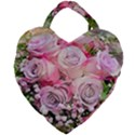 Flowers Bouquet Wedding Art Nature Giant Heart Shaped Tote View1