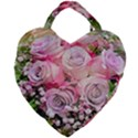Flowers Bouquet Wedding Art Nature Giant Heart Shaped Tote View2
