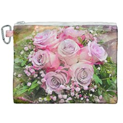 Flowers Bouquet Wedding Art Nature Canvas Cosmetic Bag (xxl) by Nexatart