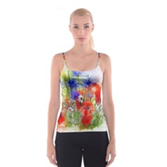 Flowers Bouquet Art Nature Spaghetti Strap Top