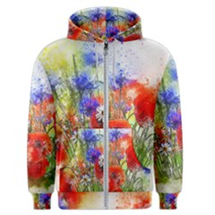 Flowers Bouquet Art Nature Men s Zipper Hoodie