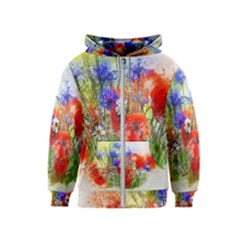 Flowers Bouquet Art Nature Kids  Zipper Hoodie
