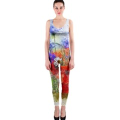 Flowers Bouquet Art Nature One Piece Catsuit