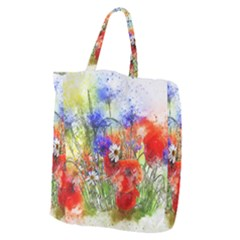 Flowers Bouquet Art Nature Giant Grocery Zipper Tote by Nexatart