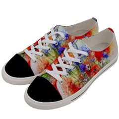 Flowers Bouquet Art Nature Women s Low Top Canvas Sneakers by Nexatart